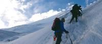 Heading towards the summit of Peak Lenin