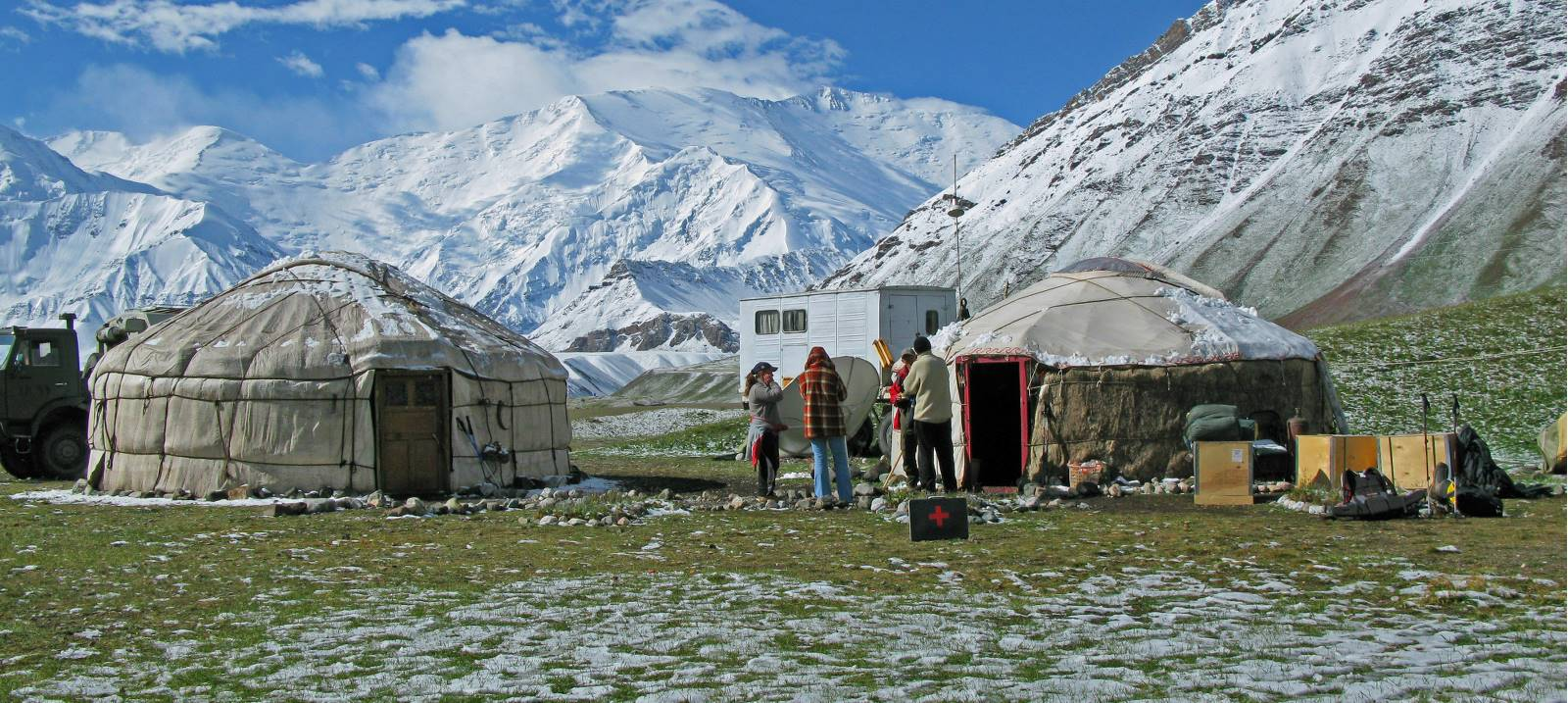 At our yurt camp in Kyrgyzstan |  <i>Simon Yates</i>