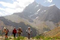 Trekking amongst the high peaks of the Pamirs Fann Mountains |  <i>Chris Buykx</i>