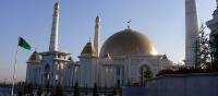 Central Asia's largest mosque, Turkmenbashi Ruhy, near Ashgabat | Kathy Kostos