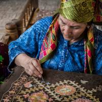 Observe intricate needlework in Bukhara | Richard I'Anson