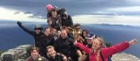 School group on top of Bishop & Clerk on Maria Island | Holly Van De Beek