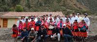 Students after the Huilloq greenhouse project in Peru | Drew Collins