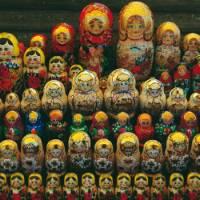 Matryoshka or Babushka dolls for sale in Siberia | Rachel Imber