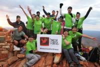 The 2016 Oxfam Close the Gap team celebrate their achievements on the top of Mount Sonder on their Larapinta trek. -  Photo: Larissa Duncombe
