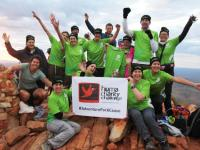 The 2016 Oxfam Close the Gap team celebrate their achievements on the top of Mount Sonder on their Larapinta trek. |  <i>Larissa Duncombe</i>