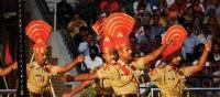 The daily flag raising ceremony at Wagah Border crossing, near Amritsar | Charles Duncombe