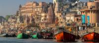 Bathing ghats on the holy Ganges River, Varanasi | Richard I'Anson