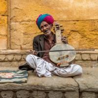 Musician at Jaisalmer Fort | Richard I'Anson