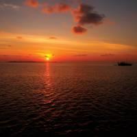 Orange sunset over Vashugiri   Deb Wilkinson