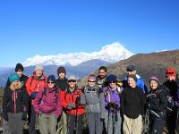 Group shot in front of Dhaulagiri |  <i>Brad Atwal</i>