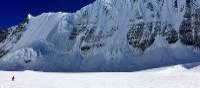 Descending glacier with Yubra Himal in the background.   Soren Kruse Ledet