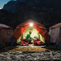 Stay at our comfortable semi-permanent campsites in Nepal's Everest region |  <i>Mark Tipple</i>