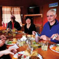All meals on trek included, and served in our heated dining quarters when staying at our semi-permanent camps | Heike Krumm