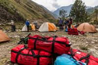 Receive a souvenir World Expeditions kit bag on all Nepal trek |  <i>Lachlan Gardiner</i>