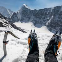 Enjoying the view on a World Expeditions mountaineering expedition | Lachlan Gardiner