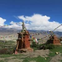 Ancient chortens at Lo Gekar, Upper Mustang. | Margie Thomas