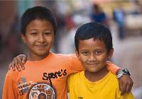 The happy faces of young Nepali boys in Kathmandu |  <i>Peter Walton</i>