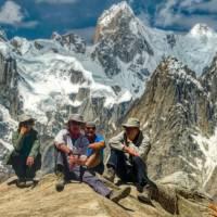 Enjoying the well earned views in Pakistan's Karakoram mountains | Michael Grimwade