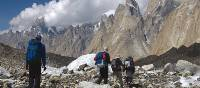 Trekkers on the Baltoro Glacier in Pakistan | Ben Tesse