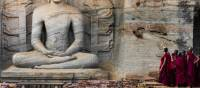 Novice monks at Polonnaruwa | Richard I'Anson