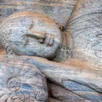 The reclining Buddha statue at Polonnaruwa   Richard I'Anson