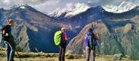 Taking in spectacular vistas on the Inca Rivers Trek