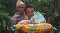 Priceless Nepali smile upon receiving a 'Lend A Hand Appeal' food package