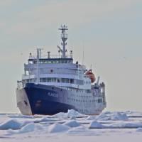 Plancius in pack ice   Gerard Regle