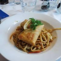 Delicious dinner on-board the ship   Scott Pinnegar