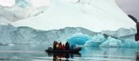 Zodiac cruising in the Arctic | Rachel Imber