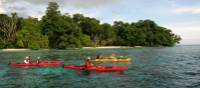 Kayaking is an optional activity on our adventure cruise in the Solomon Islands | A Russ