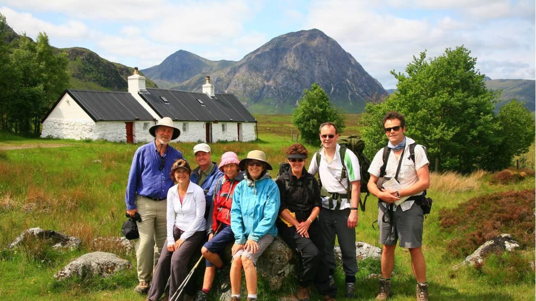 Group at Blackrock Cottage, Scotland
