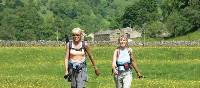 Coast to Coast walkers in Swaledale near Muker