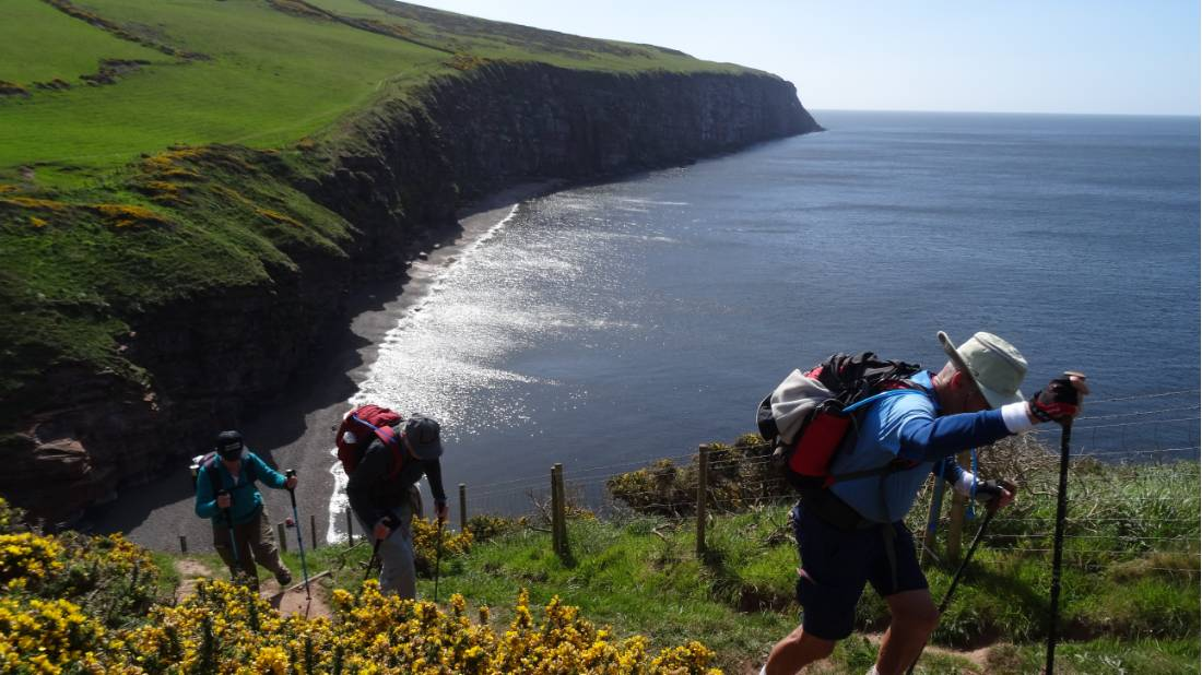 Walking up from Fleswick Bay on Wainright's Walk |  <i>John Millen</i>