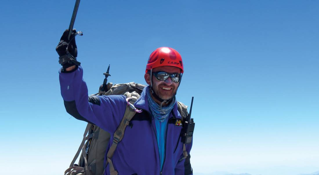 Celebrating on the summit of Aconcagua |  <i>Angel Armesto</i>