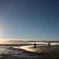 Magical sunrise at the thermal pools in the Atacama Desert | Joy Murray