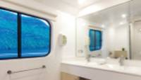 Bathroom views aboard Solaris