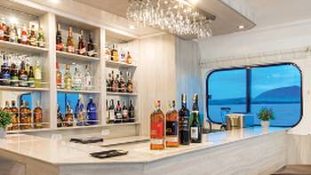 Views of the bar area aboard Solaris