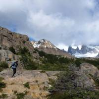 Crossing rugged terrain in Fitz Roy National Park   Maude Gamache-Bashille