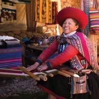 Quechua woman backstrap weaving in Chinchero   Mark Tipple