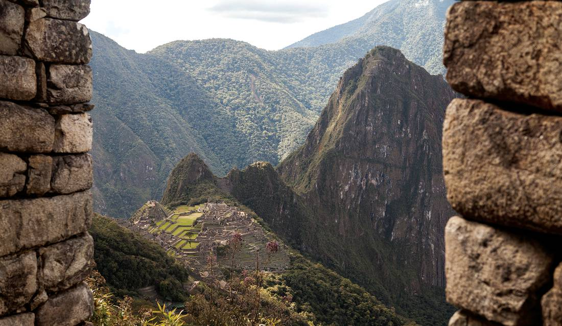 Breathtaking views across Machu Picchu