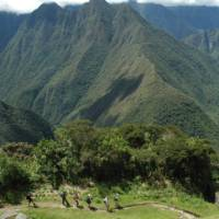 The Inca Trail winding its way through the Andes | Sarah Higgins