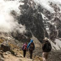 Hiking along the flanks of Mount Salcantay | Mark Tipple