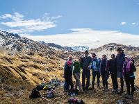 Trekkers high up in the Andes mountain range |  <i>Chris Gooley</i>
