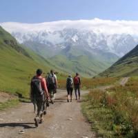 Hiking trails wind through the Svaneti Valley, Georgia. | Julie Haber