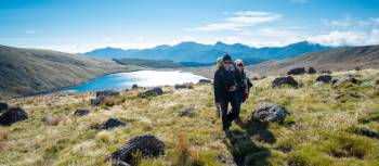 Walking amongst stunning lake views in the Kahurangi National Park, New Zealand