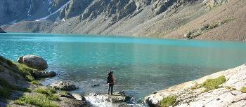 Glacial lake in the Tian Shan Mountains