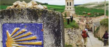 Walkers on one of Europe's scenic pilgrimage routes | Edwina Parsons