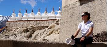 Kate Leeming at Shey Palace, once the capital of Ladakh | Kate Leeming